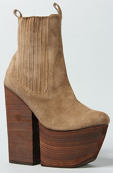 Jeffrey Campbell The Wolf Boot in Taupe Suede in Brown (taupe) - Lyst