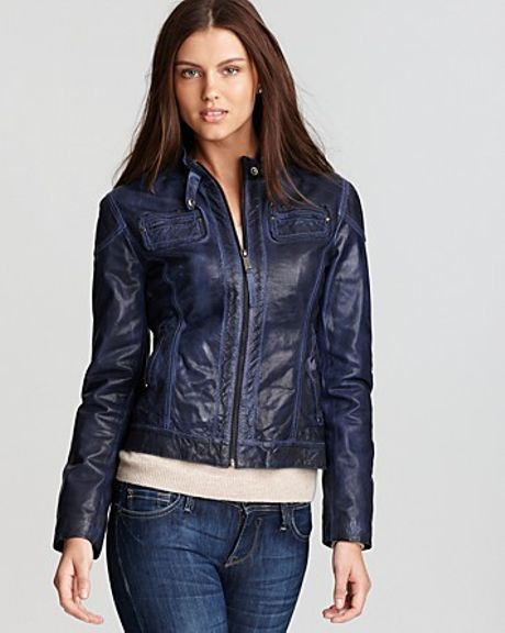 Michael Kors  Color Moto Jacket in Blue (sapphire)