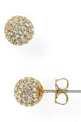 Nadri Small Crystal Ball Earrings - Lyst