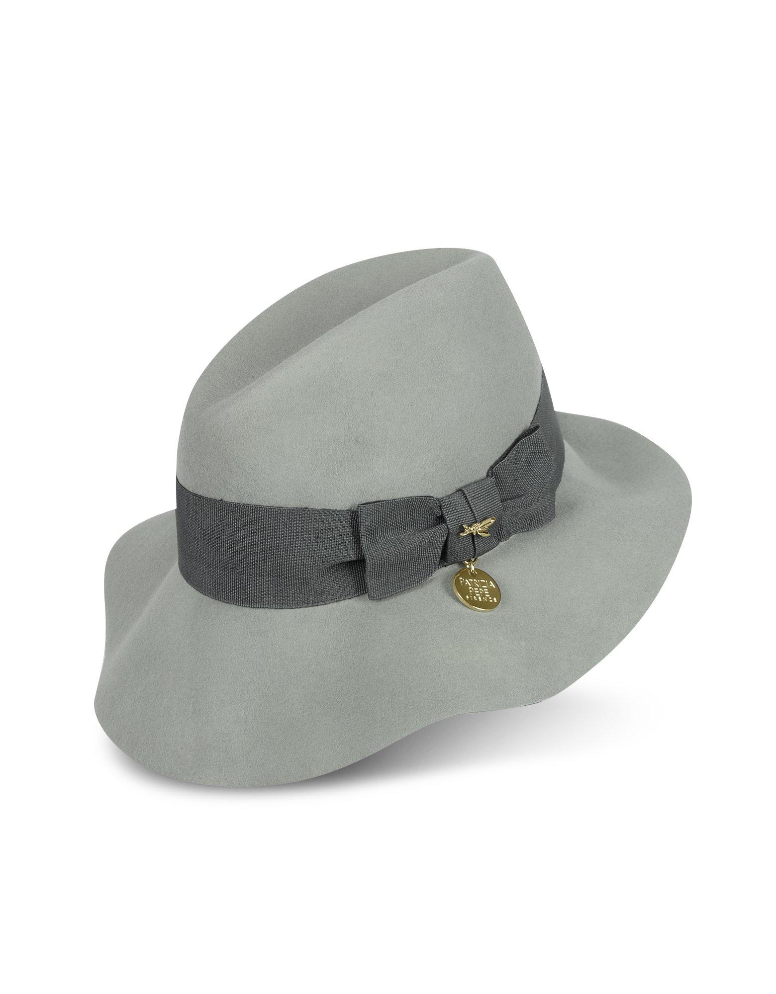 Patrizia Pepe Plexy Grey Womens Wool Hat in Gray - Lyst 99418f13d84