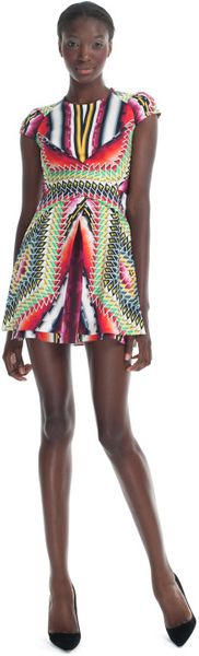 Peter Pilotto Resort Damask Red Che V Dress - Lyst