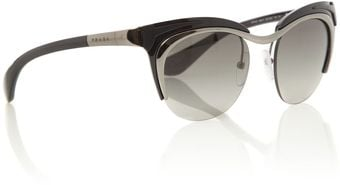Prada Ladies Pr61os Parallel Universes Black Sunglasses - Lyst