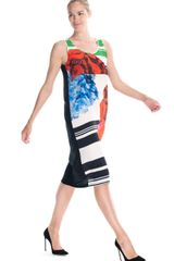 Preen Resort Mason Dress in Multicolor (poppy print) - Lyst