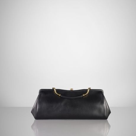 Ralph Lauren Large Calfskin Clutch in Black - Lyst