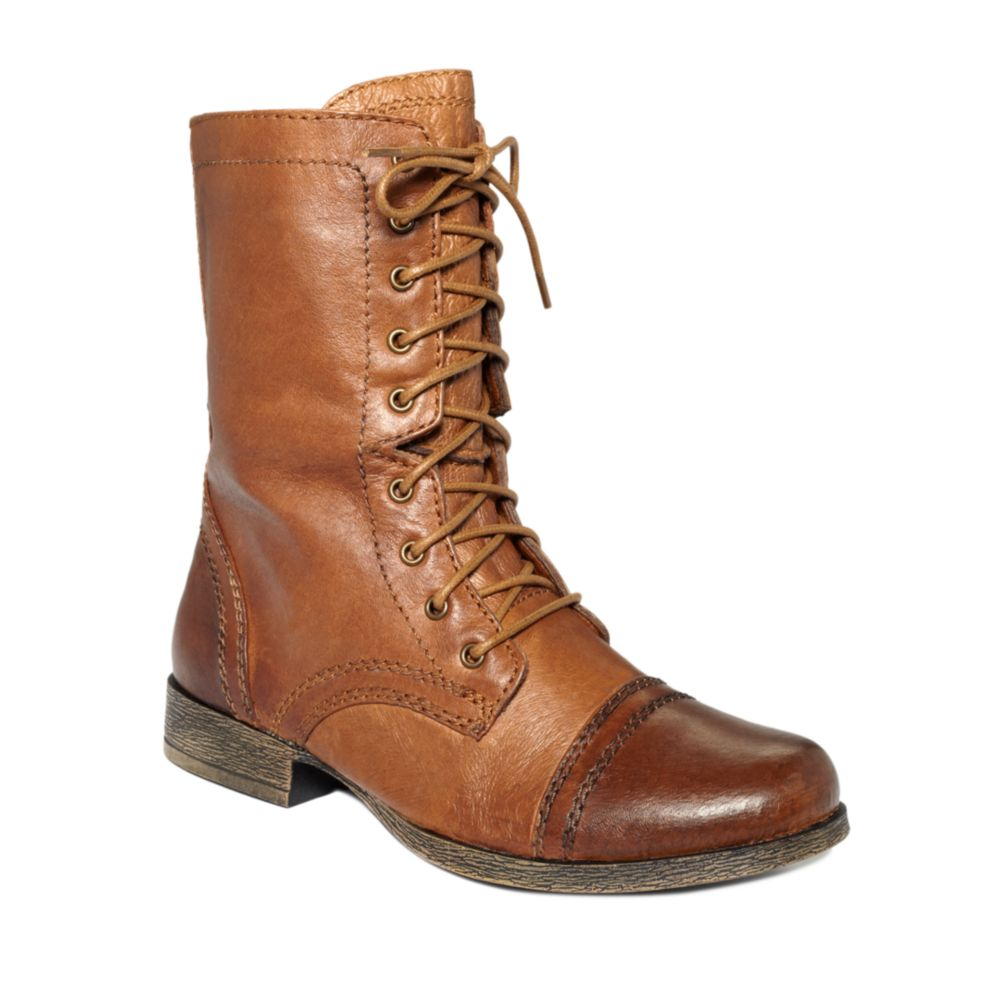 steve madden troopa boots in brown cognac lyst