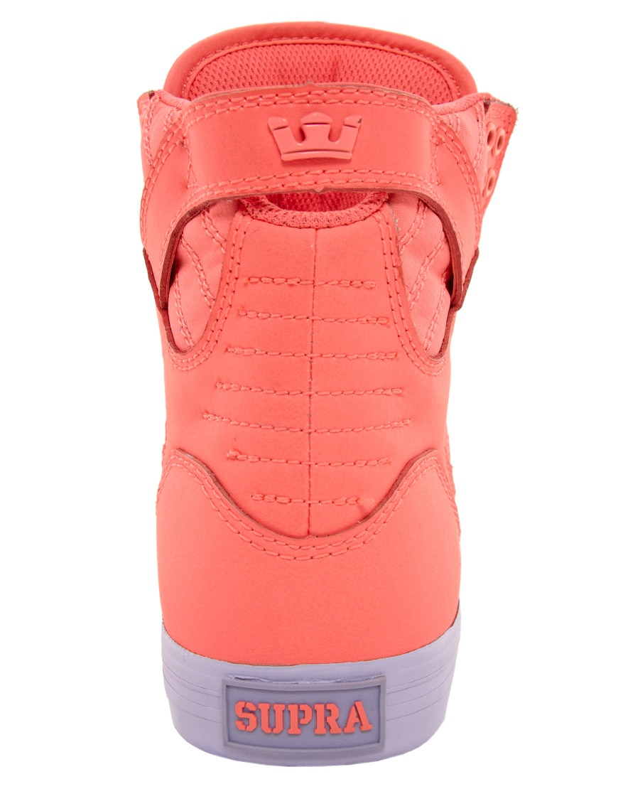 02e1ccc583de ... norway lyst supra skytop neon high top trainers in red 5b804 09f7a