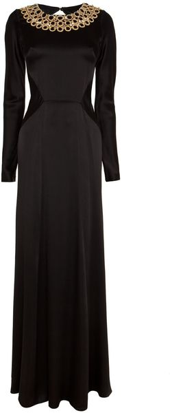 Temperley London Long Open Back Carmel Dress - Lyst