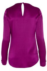 Temperley London Delilah Bow Blouse in Purple (damson) - Lyst