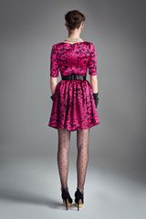 Temperley London Dianthus Dress in Purple (fuschia mix) - Lyst