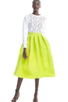 Tibi Resort Kelp Silk Faille Full Skirt - Lyst