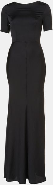 Topshop Fitted Short Sleeve Maxi Dress - Lyst