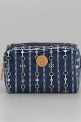Tory Burch Brigitte Cosmetic Case Small Normandy Blue - Lyst