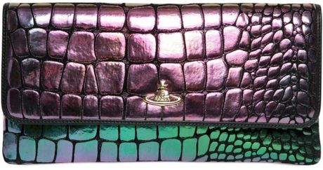 Vivienne Westwood Crocodile Print Leather Clutch in Multicolor (multi) - Lyst