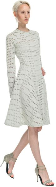 Yigal Azrouel Canvas Skirt in White (grey)