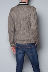 Zara Chunky Sweater in Beige for Men (mink) - Lyst