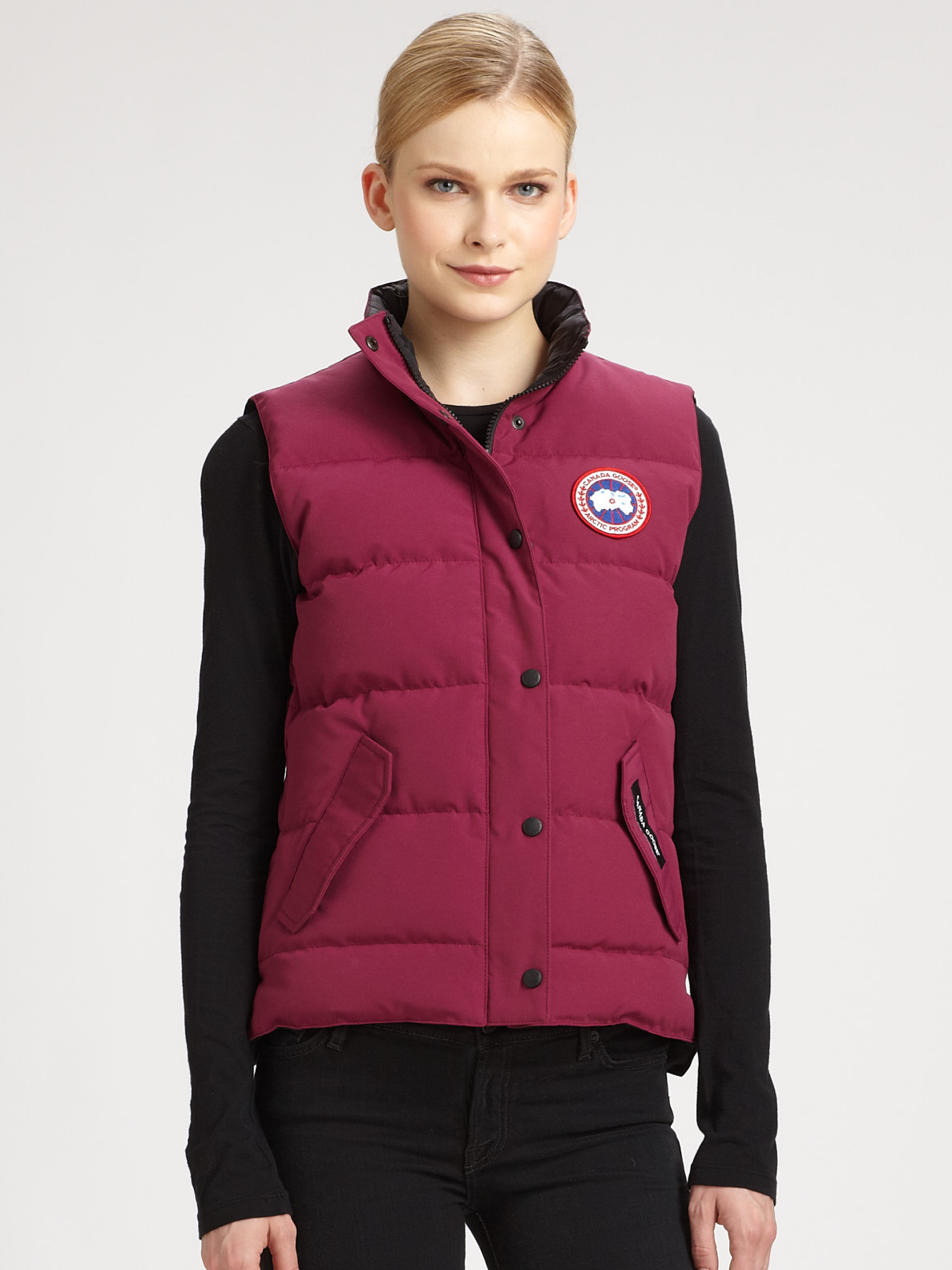 coupon code for canada goose freestyle vest berry for women