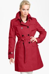 DKNY Double Breasted Trench Coat - Lyst