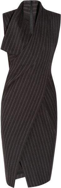 Donna Karan New York Origami Wool-Blend Dress in Gray
