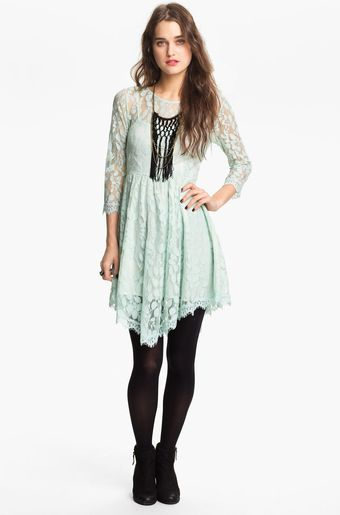Free People Handkerchief Hem Lace Dress - Lyst