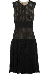 Giambattista Valli Bouclé-Paneled Embroidered Mesh Dress - Lyst