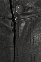 J Brand Stretch leather Skinny Pants in Black - Lyst
