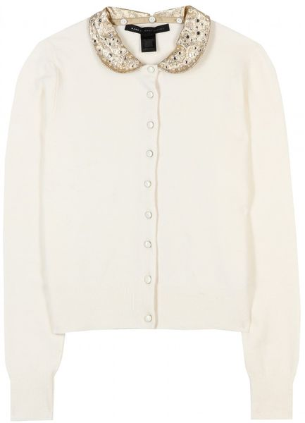 Marc By Marc Jacobs Mika Cardigan with Collar in White - Lyst