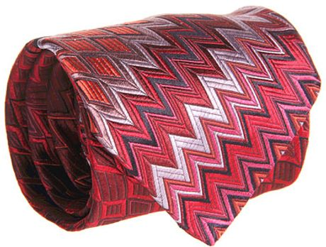 Missoni Diamond Zigzag Rapture Tie in Pink (p) - Lyst