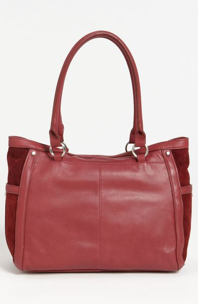 Perlina Nadia Tote in Red (merlot) - Lyst