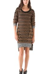 Rag & Bone Lisbeth Dress in Brown (copper) - Lyst