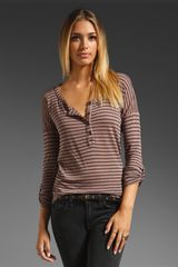 Splendid Vienna Stripe Henley Top - Lyst