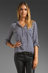 Splendid Striped Shirting Top - Lyst