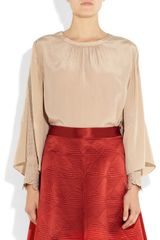 Temperley London Ravenna Bette Embroidered Silk Top in Beige (champagne) - Lyst