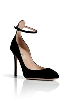 Valentino Black Suede High Heeled Pumps - Lyst
