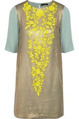 Vineet Bahl Lace-appliquéd Sequined Tunic Dress