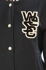 Wesc The Laika Fleece Varsity Jacket in Navy in Blue (navy) - Lyst