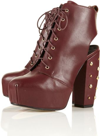 Ariella Ariella Cut Out Lace Up Boots - Lyst