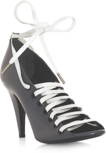 Balenciaga Cutout Laceup Shoes - Lyst