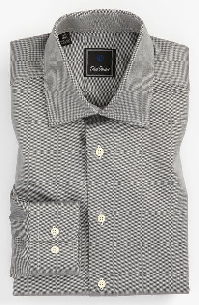 David Donahue Regular Fit Dress Shirt in Black for Men - Lyst