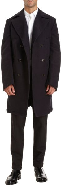 Dolce & Gabbana Double Breasted Peacoat in Blue for Men (navy) - Lyst