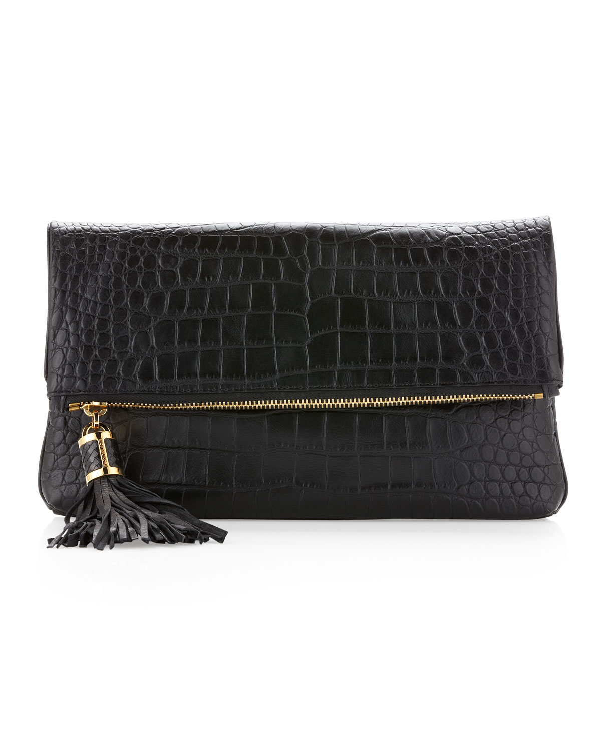 michael kors large tonne foldover clutch bag in black lyst. Black Bedroom Furniture Sets. Home Design Ideas
