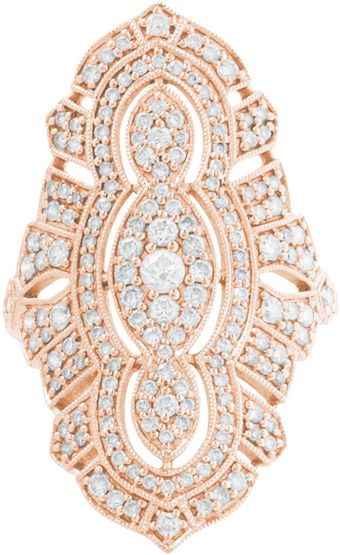 Stone Diamond Pink Gold Tess Ring - Lyst