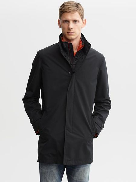 Banana Republic Performance Mac Jacket In Black For Men Lyst
