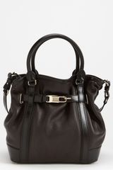 Burberry Leather Tote - Lyst
