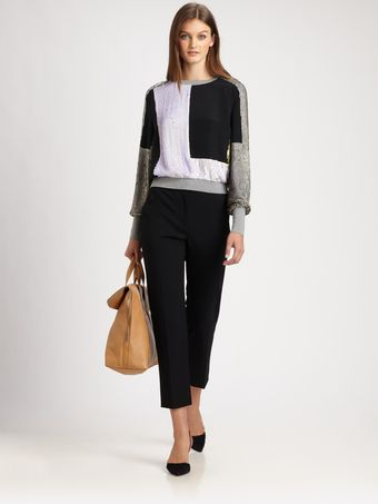 3.1 Phillip Lim Sequined Silk Top - Lyst