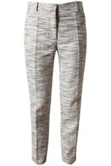 3.1 Phillip Lim Flecked Linencotton Cropped Trousers - Lyst
