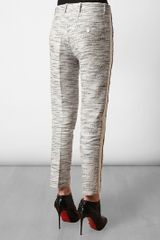 3.1 Phillip Lim Flecked Linencotton Cropped Trousers in Gray (white) - Lyst