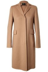 Akris Tailored Camel Hair Coat - Lyst