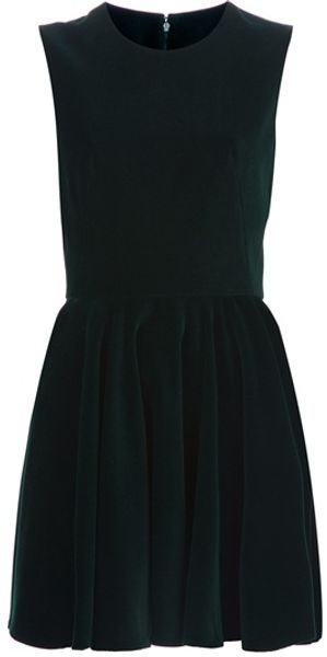 Alexander McQueen Pleated Sleeveless Dress - Lyst