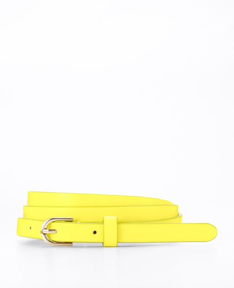 Ann Taylor Perfect Skinny Belt in Yellow (neon light)