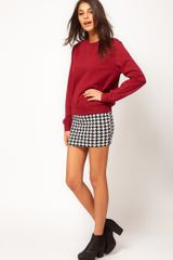 ASOS Collection Asos Mini Skirt in Dogtooth - Lyst